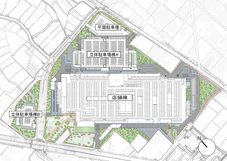 三井ショッピングパーク ららぽーと堺 建物配置図