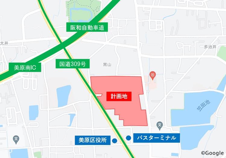 三井ショッピングパーク ららぽーと堺 狭域図