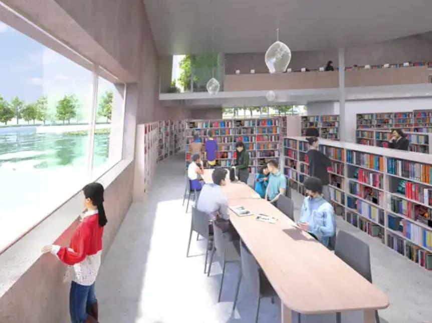松原市図書館のリニューアル後のイメージ3