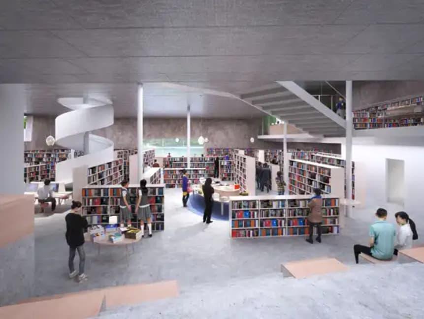 松原市図書館のリニューアル後のイメージ4
