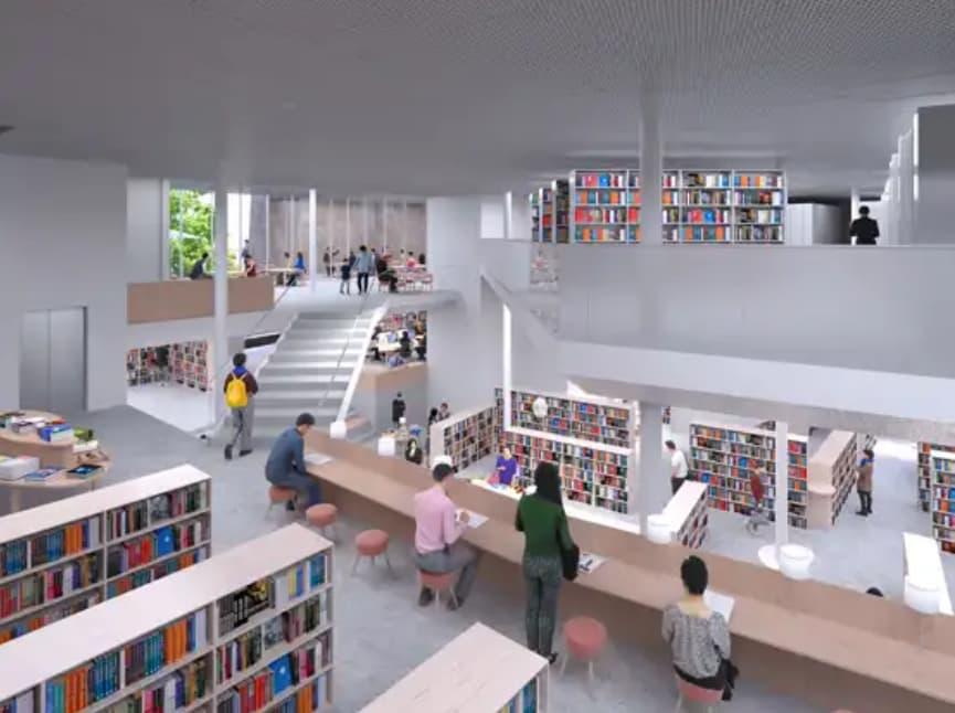 松原市図書館のリニューアル後のイメージ5