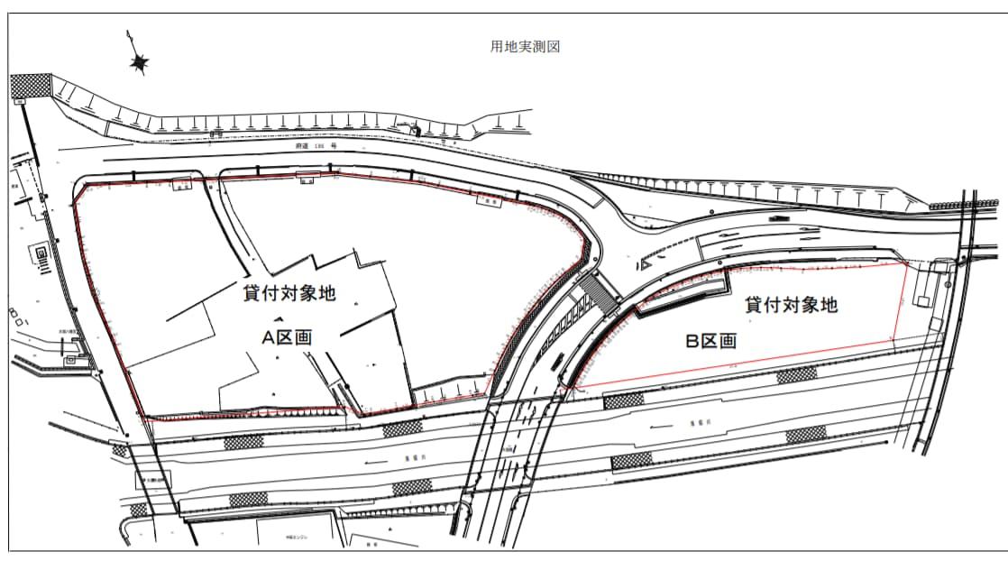 大阪府松原市大堀四丁目の商業施設(平面図)